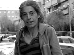 La Venablo (Joe Lomas) Tags: poverty madrid street leica portrait blackandwhite bw espaa woman byn blancoynegro calle mujer spain retrato poor bn beggar urbano pobre indigente mendigo pobreza indigencia limosna necesitado pordiosero limosnero photostakenwithaleica