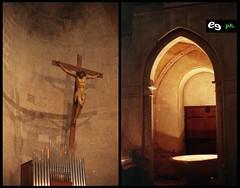 Duomo di Casertavecchia (Emmanuel Granatello) Tags: italy film analog campania olympus chiesa sp duomo om analogia 130 monumenti om2 disposable 400asa caserta vecchia chiese casertavecchia om2sp campaniafelix