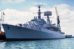 D18 HMS Antrim - Now Chilean Navy  'Almirante Cochrane' 1984 (beareye2010) Tags: chile santafe destroyer portsmouth southgeorgia falklands warship rn hms royalnavy astiz d18 chileannavy hmsantrim almirantecochrane operationparaquet