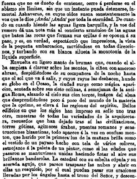 Leyenda de La Peña del Moro publicada en La Amérca por Eugenio de Olavarria y Huarte. Página 2
