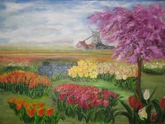 Keukenhof Inspired Original Painting by Ilonka Gangadin (Visit Holland) Tags: flowers spring tulips justbe visitholland readforspring