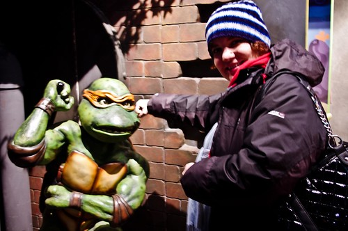 Me fighting Michaelangelo, Teenage mutant ninja turtle