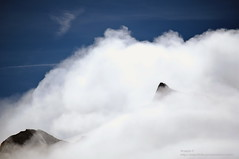 View from Aiguille du midi (aryapix) Tags: france mountains clouds montagne cumulus nuage chamonix mont blanc valle