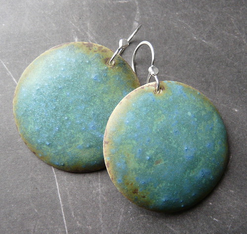 Large porcelain earrings