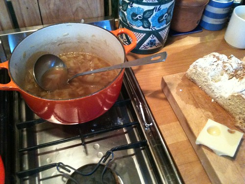 Sophie's Simpering French Onion Soup & Soda Bread