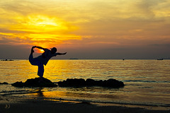 Sunset Dancer (Chrisseee) Tags: travel sunset sun beach silhouette yellow rock canon pose golden evening asia ivory dancer getty hdr singleraw redbubble klongdao doublyniceshot tripleniceshot mygearandme kristiinahillerstrm mygearandmepremium chrisseee mygearandmebronze mygearandmesilver mygearandmegold mygearandmeplatinum mygearandmediamond goldstarawardlevel4 goldstarawardlevel5 goldstarawardsuperstar