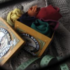 through my reading glasses (overthemoon) Tags: orange green home yellow socks square tin purple curtain crochet utata tapemeasure wafers gred kambly utata:color=black vintagebiscuittin bretzeli utata:project=ip120 kisforkamblybiscuitsyoulljusthavetobelievemeasthekiscroppedoff