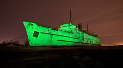 The Ghost Ship (night photographer) Tags: old light abandoned wales night painting photography rust long exposure ship rusty duke lancaster disused