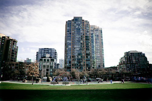 Outdoor Playground Park in the heart of Downtown Vancouver