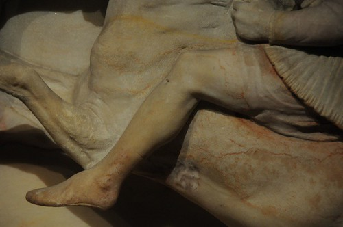 Detail of the Alexander Sarcophagus (original paint still visible)