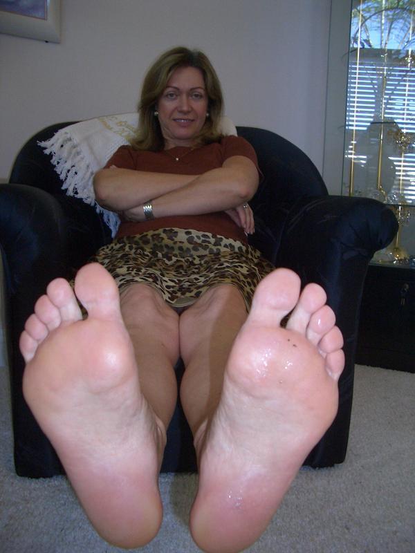 Feet female mature tickle
