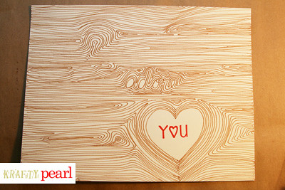 blog 6 - faux bois i adore you diy