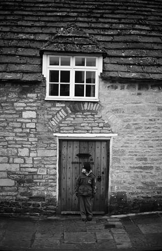 Finn in a doorway
