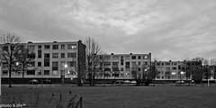 3 blocks of flats (photo & life) Tags: street city urban blackandwhite building night noiretblanc rue nuit paysbas ville immeuble kerkrade ubain 3blocksofflats pentaxk5