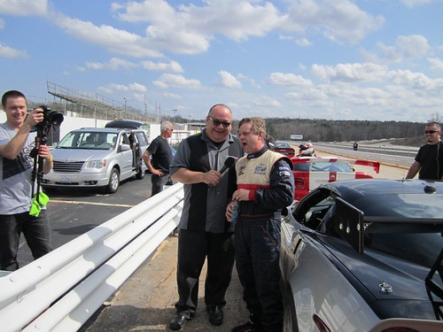 Reese Cox and Tom Hnatiw at Road Atlanta road race course