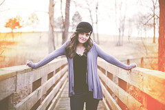 Lindsey (Spanier Photography) Tags: park bridge light portrait blur girl beautiful rural canon vintage model glare dof natural bokeh mark kentucky 14 ii 5d 50