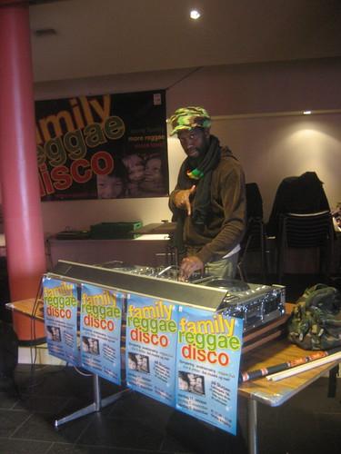 Harmony at family reggae disco