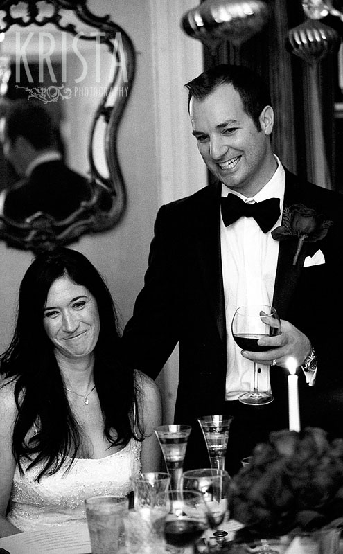 Boston Winter Wedding in black & white film