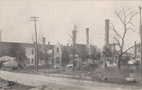 Fire District West Side, Dayton, OH - 1913 Flood