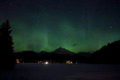 Aurora Borealis over Auke Lake - March 1st, 2011