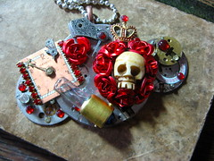 Queen of the Dead (lisby1) Tags: vintage dayofthedead skull costume cosplay handmade oneofakind ooak victorian jewelry fantasy scifi sciencefiction etsy custom recycle clockworks artisan faerie larp steampunk neovictorian upcycle indiedesigner womanmade indieartist clockpunk steapunk tatterpunk bigcirclesteampunkemporium