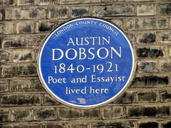 Photo of Austin Dobson blue plaque