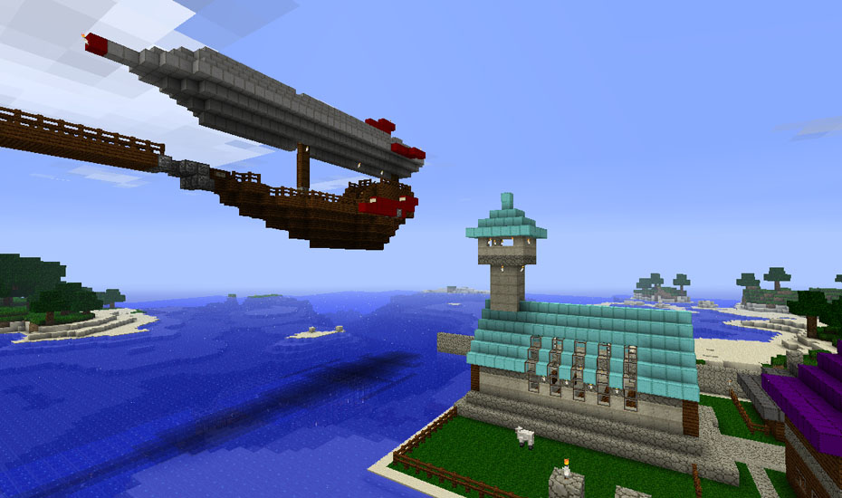 Minecraft - The Airship and Church