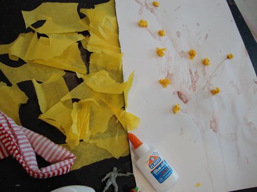 tissue paper forsythia