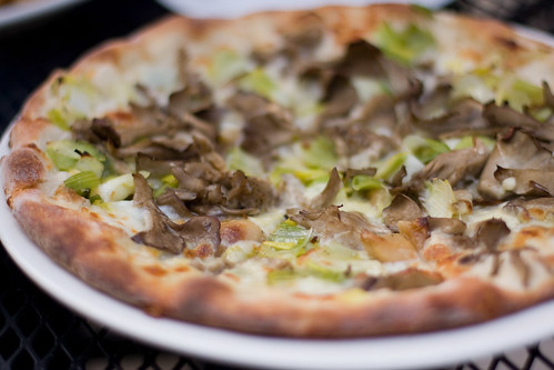 Liberty Cafe - mushroom and leek pizza