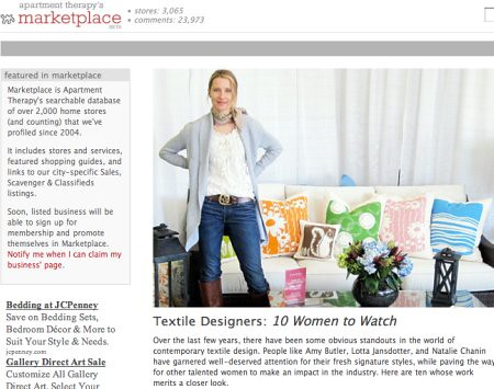 Jeanine Hays of AphroChic Listed Among 10 Textile Designer to Watch!