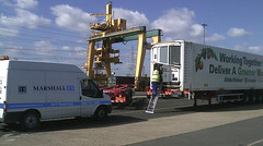 Marshall Fleet Solutions engineesr working on a Stobart pic