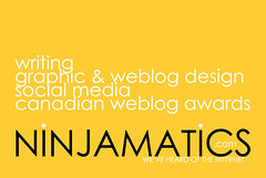 Ninjamatics business cards front - yellow