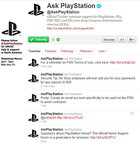 @AskPlayStation: Customer Support for PlayStation