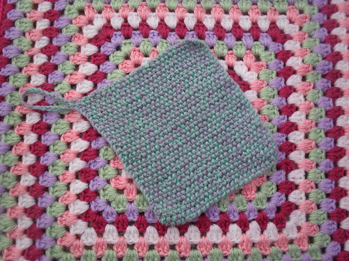 Mom has just picked up her Knitting Needles after a long time. She's 81! Made me a Pot Holder. I will treasure it! Thanks Mom!