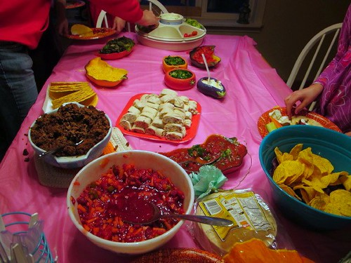 The Taco Bar for the Frida party