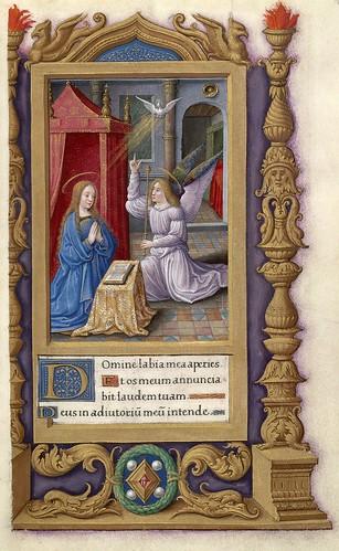 011-La anunciacion-Libro de Horas al uso de Roma- Francia siglo XVI- HM 48 Huntington Library