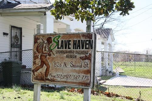 slave haven sign