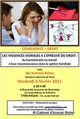 Conférence les violences morales à l'épreuve du droit avec Maître Reiter, Avocat - Melun - Seine-et-Marne 77