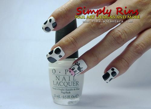 Nail Art Cow 01