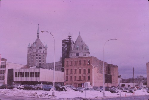 Downtown Albany from Greyhound station, Polachrome