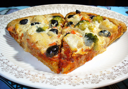 2011-03-13 - Veggie Pizza, Flaxseed Crust - 0016