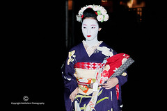 In the darkness what prowls around my eyes is her smile (belthelem) Tags: trip travel portrait woman japan mujer kyoto asia retrato maiko geiko geisha    gion kioto japonesa japon nipon   chion   apprenticegeisha apprenticegeiko takahina  hanamikji