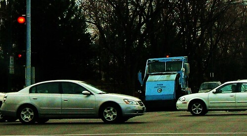City of Chicago Department of Streets and sanitation Elgin Pelican model street sweeper vechicle. Chicago Illinois USA. March 2011. by Eddie from Chicago