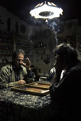 The game (georgekamelakis) Tags: light portrait people men greek george hands nikon cigarette smoke great greece backgammon tavli d80 kamelakis