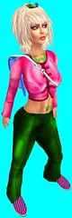 Torley Avatars 540 (▓▒░ TORLEY ░▒▓) Tags: pink green grid persona neon transformation expression character avatar linden watermelon identity secondlife virtual crop variety bluescreen manifestation shapeshifter torley olmstead incarnation
