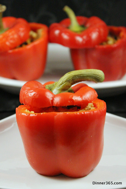 Day 76 - Couscous Stuffed Red pepper