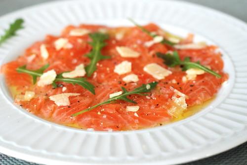 lõhe carpaccio/salmon carpaccio