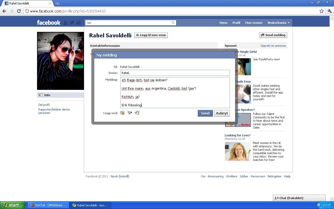 facebook melding rahel savoldelli