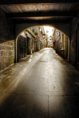 Framed street. Pontevedra. Galicia. Calle enmarcada