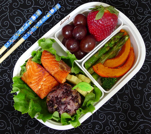 Salmon and Rice Bento by sherimiya ♥